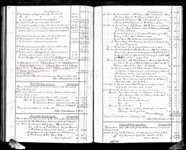 1829 to 1832 William Bell accounting in court minutes p2