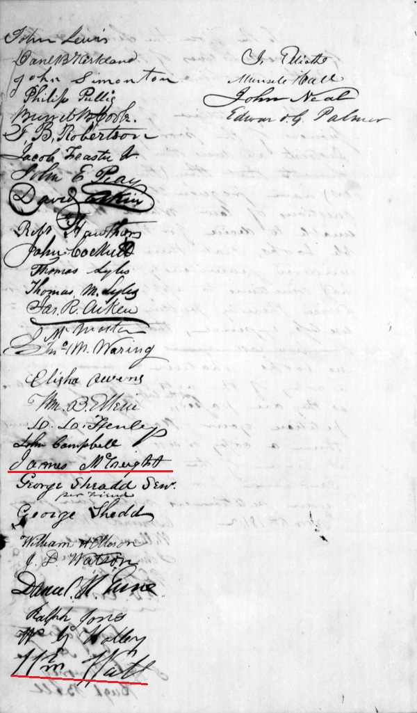 1842 Petition in SC signed by Hugh Bell and Wm Watts and others p2
