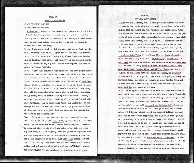 1851 William Watt loose papers will p1