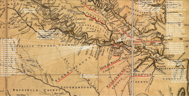 1616 to 1675 Southern Va marked