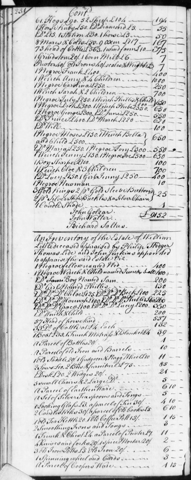 1759 Henery Goins in estate of Little in SC on Fold3 p1