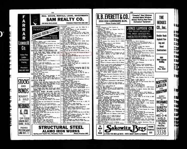 1929 Houston City Directory