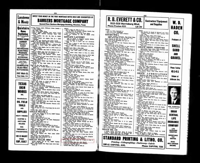 1937 Houston City Directory