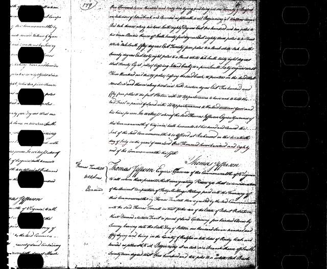 1762 Bedford Co, Virginia 240 acres granted to William Going p1