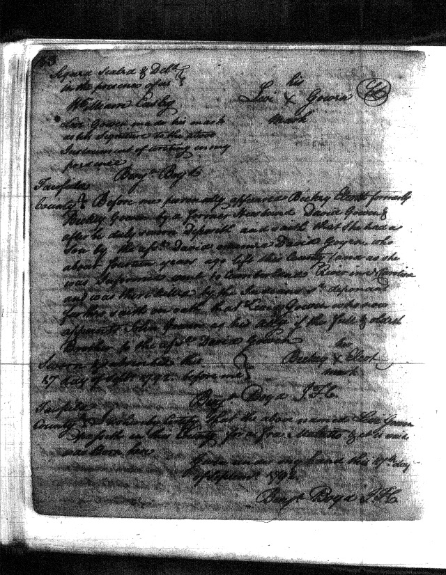 1792 Bond marked Levi Goyen, David Goyen, John Goyen affid p2