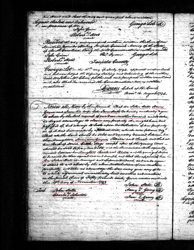 1793 Henry Goyen and wife Jane Hall etc agree to abide by mothers dying request marked