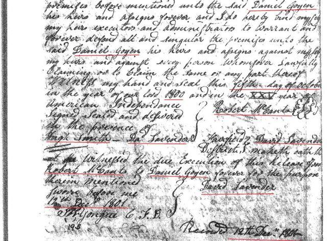 1800 Robt McCants to Daniel Goyen p2