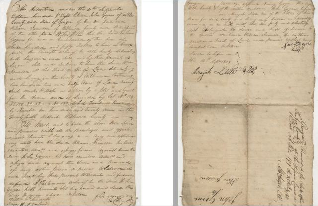 1808 John and Nancy Goyne buy 1808 Wilkes Co. Ga