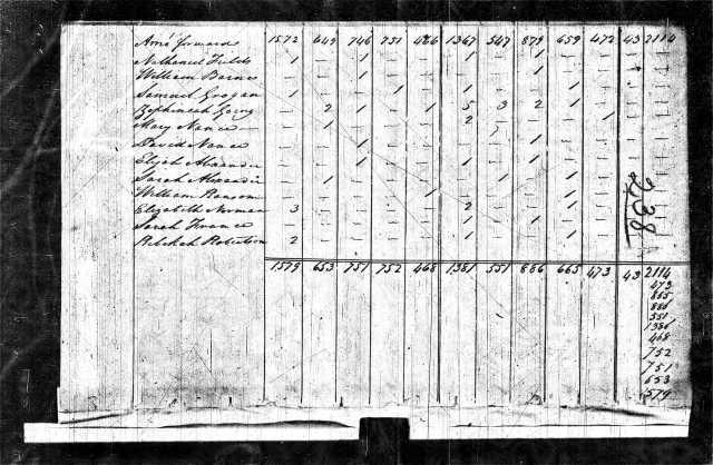 1810 NC Rockingham Co US Census Zephaniah Going