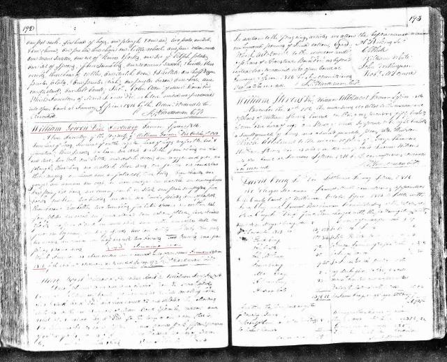 1816 TN Williamson Co inventory of William Gowen estate