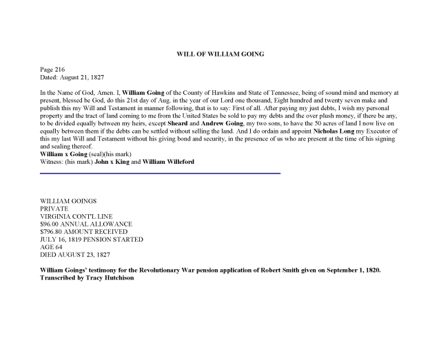 1819 TN Hawkins Co William Goings rev war pension app_Page_10