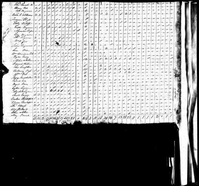 1820 Va Pittsylvania Co US Census w Sherod Going