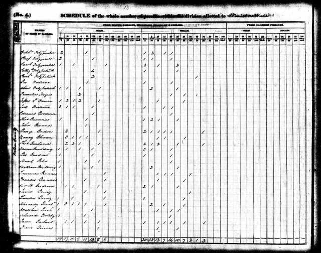 1840 Va Nelson Co US Census w Landon Going