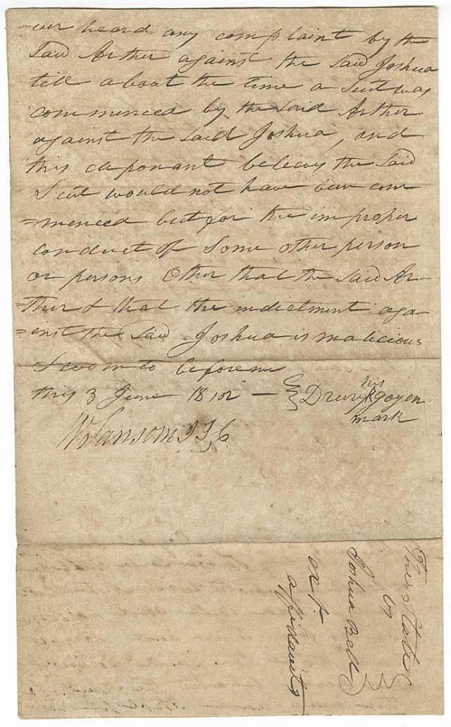 Goyen, Drury as wit in State of Ga v. Joshua Bell p4 1812 year