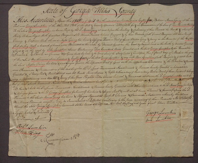 1785 Georgia Moses Going court record 1 marked