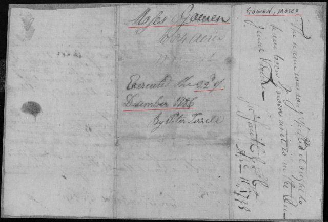 1786 Ga Moses Gowen grant p1