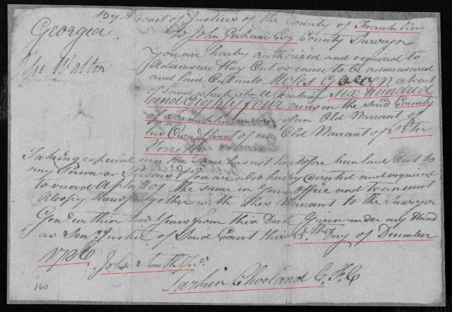 1786 Ga Moses Gowen grant p2