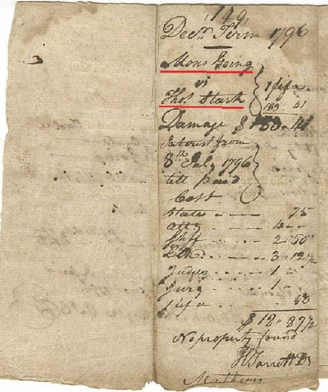 1796 Ga judgment for Moses Going against Thomas Starke p2