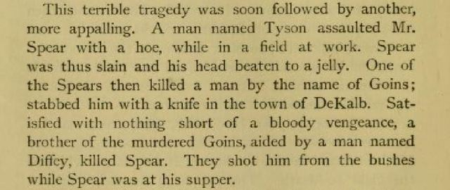 1851 Tyson Spear Goins Diffey killings