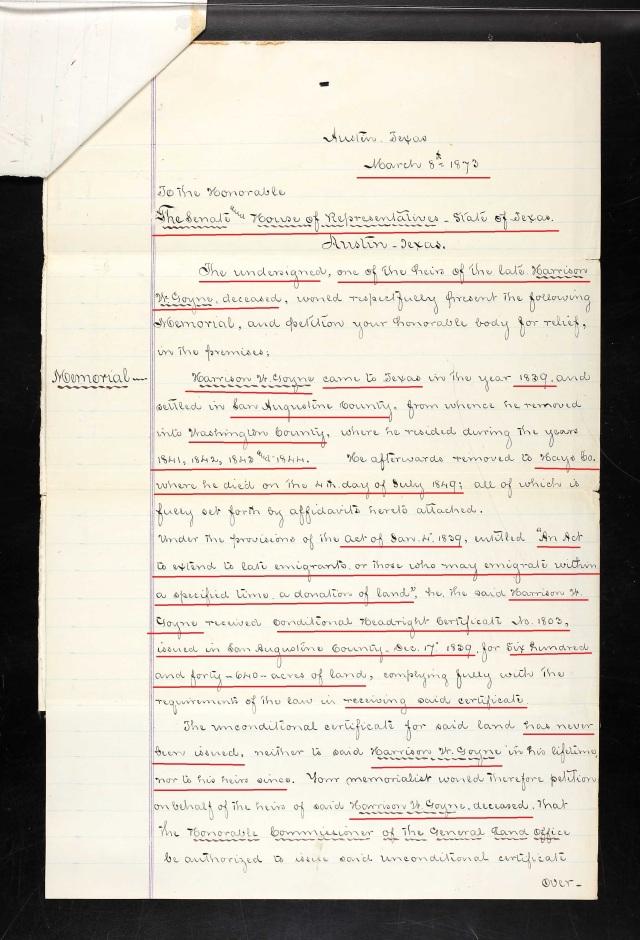 1873 Harrison Goyne Texas recs p11