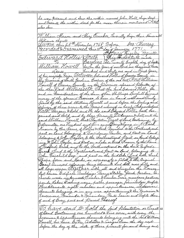 1761-edward-hollis-to-wm-howell-105a-opposite-saxegotha-sc-recorded-charleston-sc-book-3-s3-deeds-1770-to-71-hollis_page_1