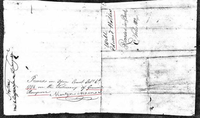 1794 Edward Hollis proved in open ct Richland Co SC snip