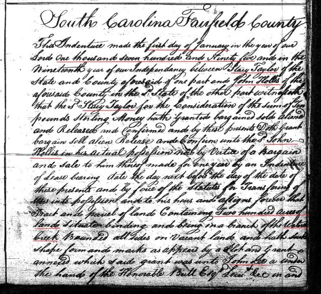 1795 Deed_I_0399a Stacy Taylor to John Hollis marked snip