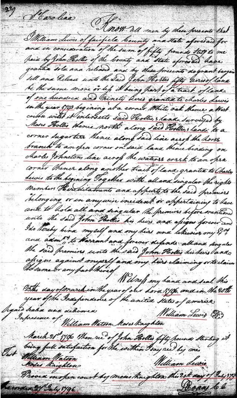 1796 Deed_K_0239a William Lewis to John Hollis marked snip