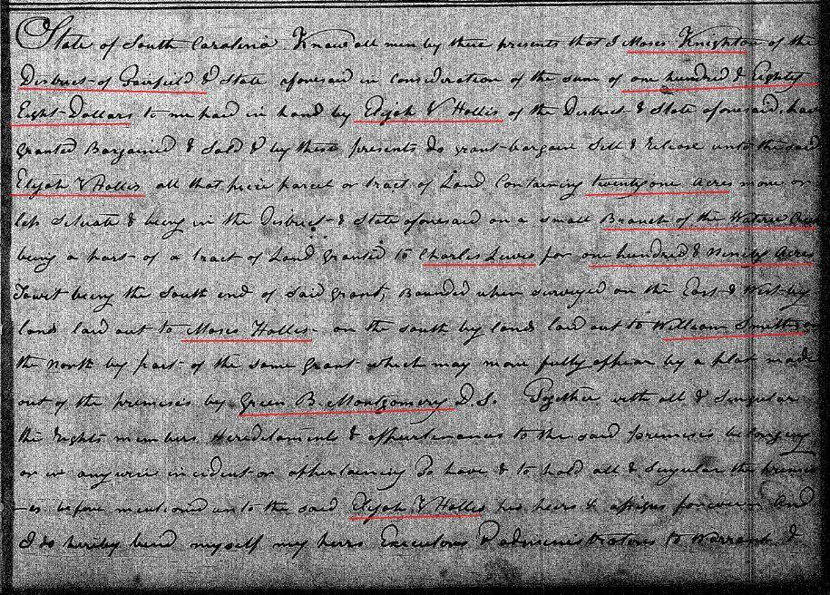 1830 Deed_HH2_0198a Moses Knighton to Elijah V Hollis marked snip