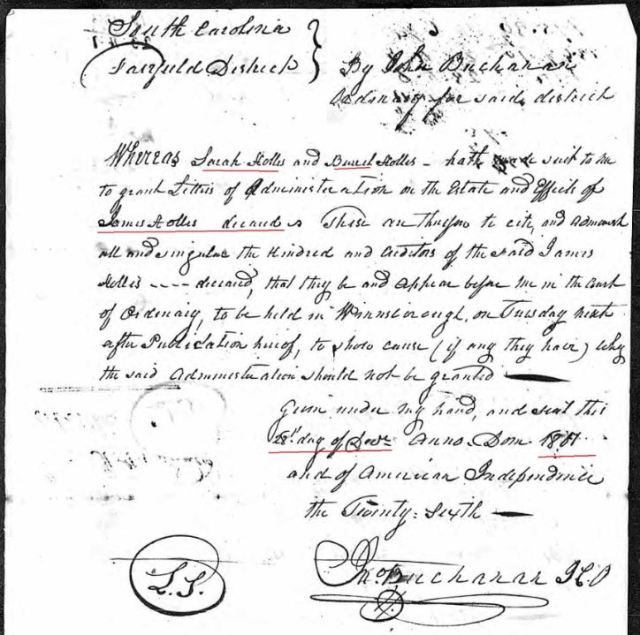 1802 12Dec 28 James Hollis loose ppw 5 letters admin orders marked snip