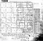 1820 St Stephens MS plat map resurveyed in 1844 of William Eubanks a George Eubanks a Sterling Dupree T1N 8W snip