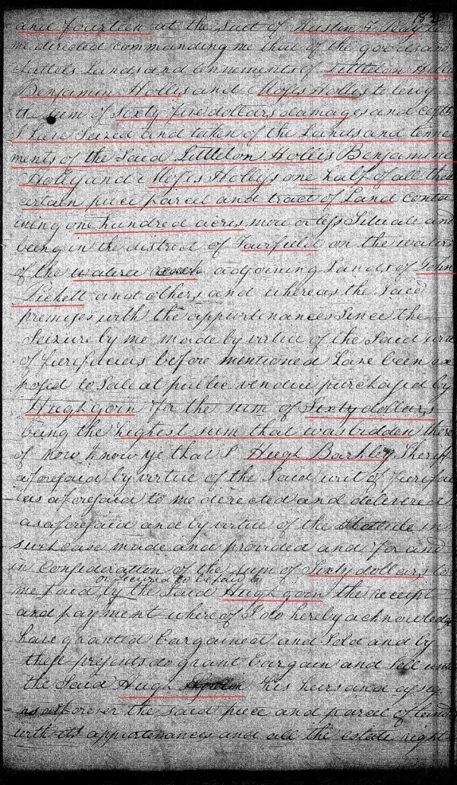 1822 Jan 21 Deed_DD_0182a Sheriff deed to Hugh Goin w Notley Hollis chain of title 2 marked snip