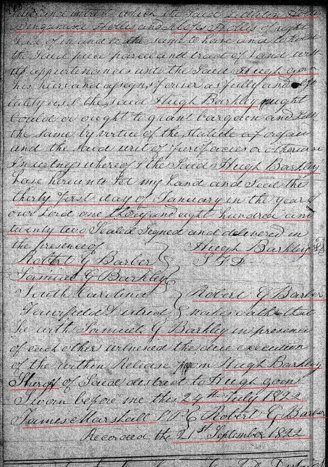 1822 Jan 21 Deed_DD_0183a Sheriff deed to Hugh Goin w Notley Hollis chain of title 3 marked snip