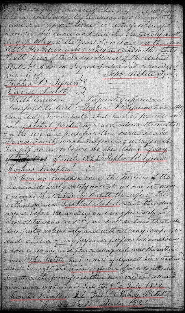 1822 July 8 Deed_DD_0177a Picket to Picket chain of title with Notley Hollis prior 2 marked snip