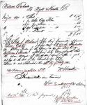 1841 11 15 William Eubanks estate Perry Co, AL p47 marked account receipts 1 snip