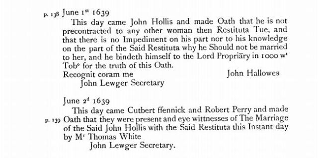 1639-june-1-marriage-of-john-hollis-to-restituta-tue