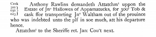 1648-jan-anthony-rawlins-demands-attachment-to-the-estate-of-jno-hallowes-of-appamatucks
