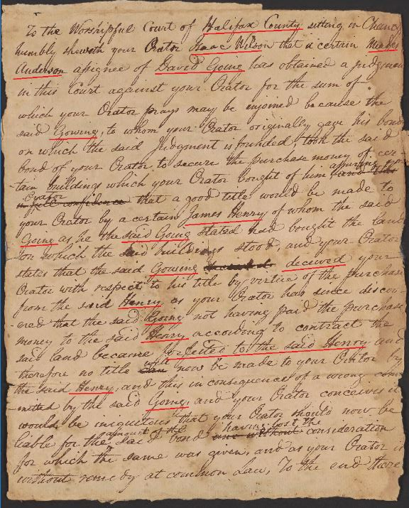 Virginia – Halifax County – 1700s to early 1800s | Goyen