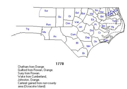 1 rowan co, nc in 1770