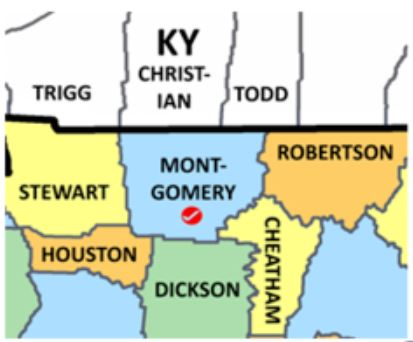 Montgomery Co TN map