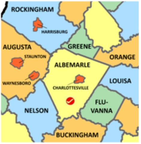 Albemarle Co Va map