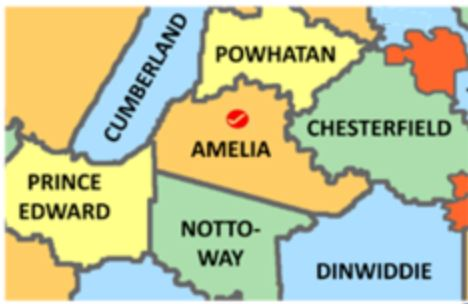 Amelia County Va map