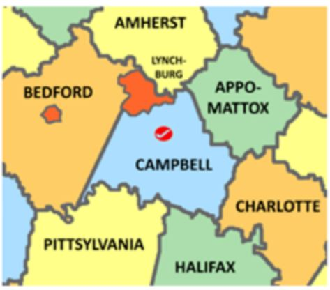 Campbell Co Va map