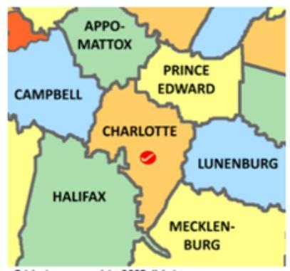 Charlotte Co Va map