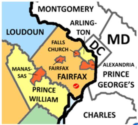Fairfax Va map