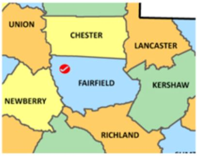 Fairfield Co SC map 1