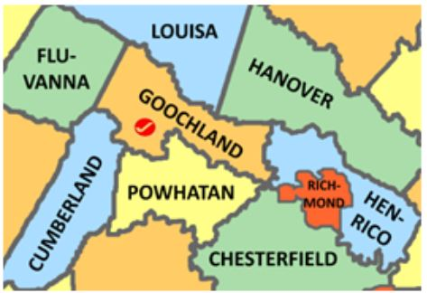 Goochland Co Va map