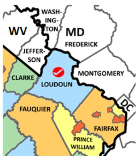 Loudoun County Va map