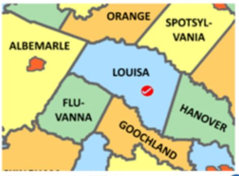Louisa County Va map