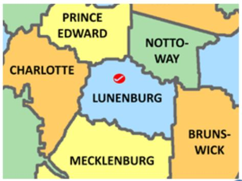 Lunenburg Co Va map